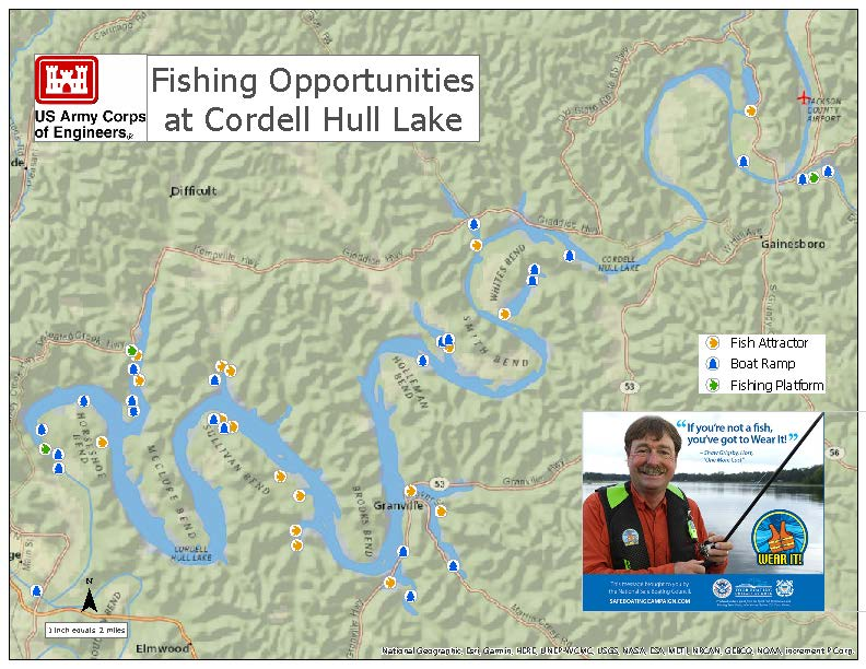 Fishing Opportunities on Cordell Hull Lake