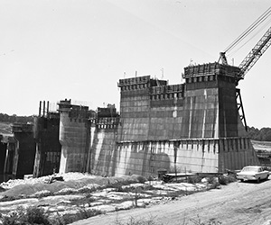 J. Percy Priest Dam Construction
