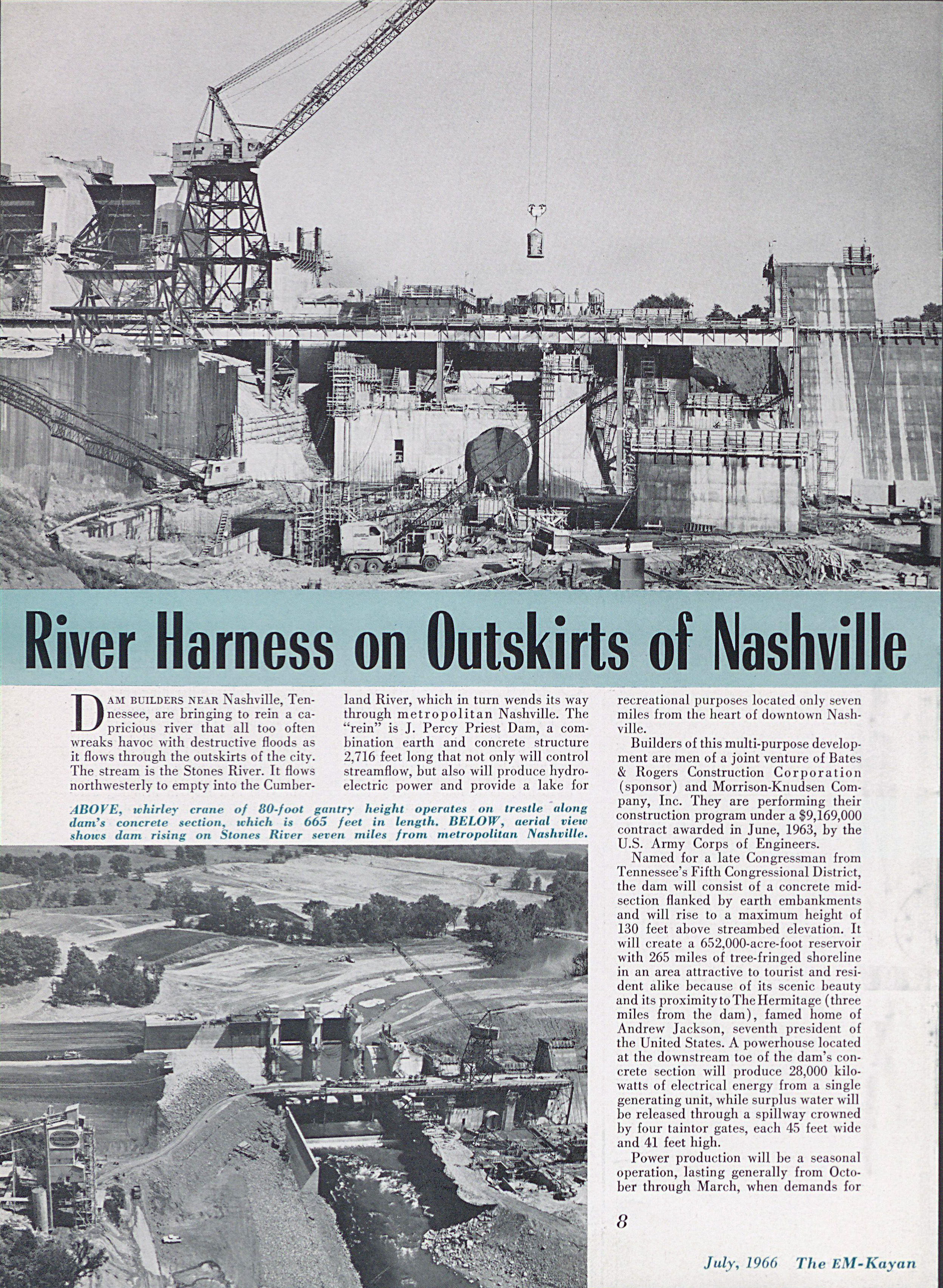 River Harness on Outskirts of Nashville Article July 1966 Page 1
