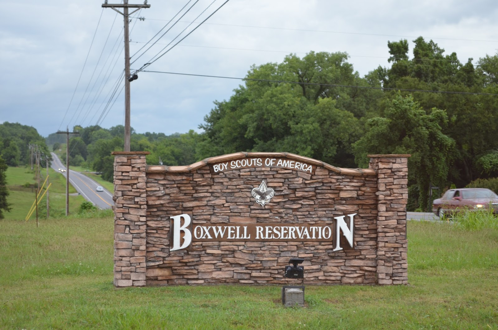 The sign for Camp Boxwell, Lebanon, Tenn.