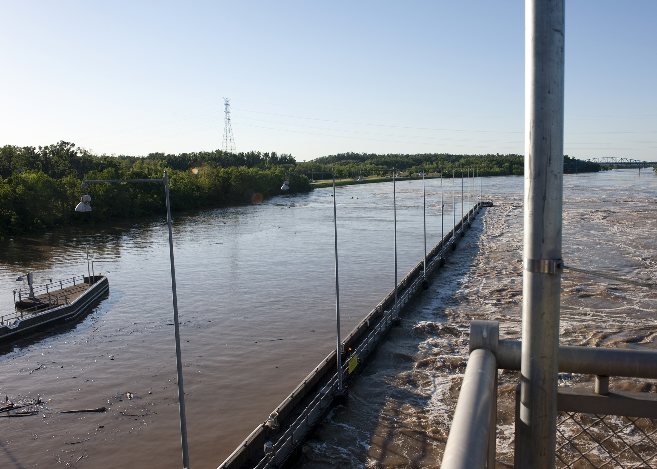 Barkley Dam during the May 2010 Flood