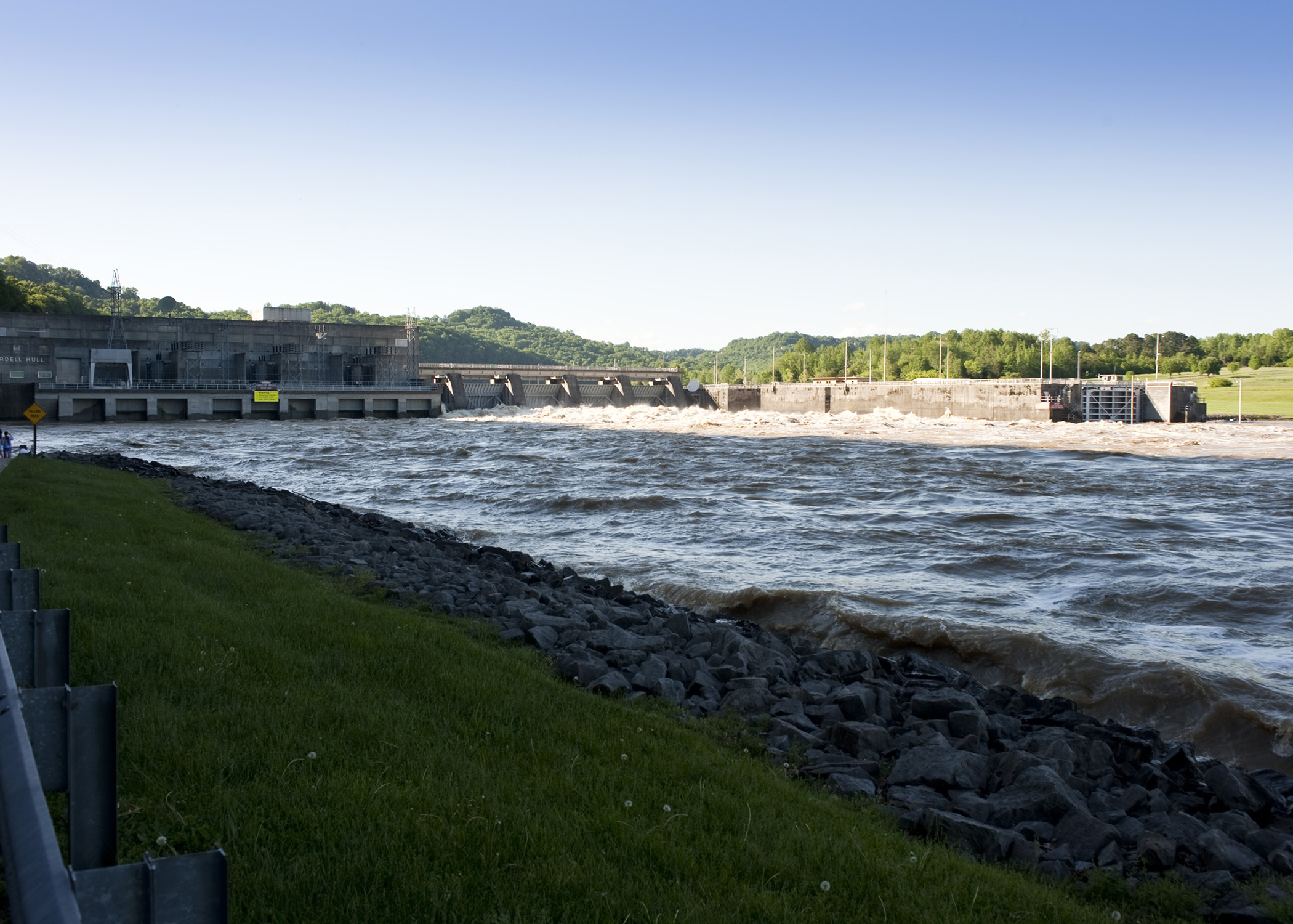 Cordell Hull Dam during the May 2010 Flood