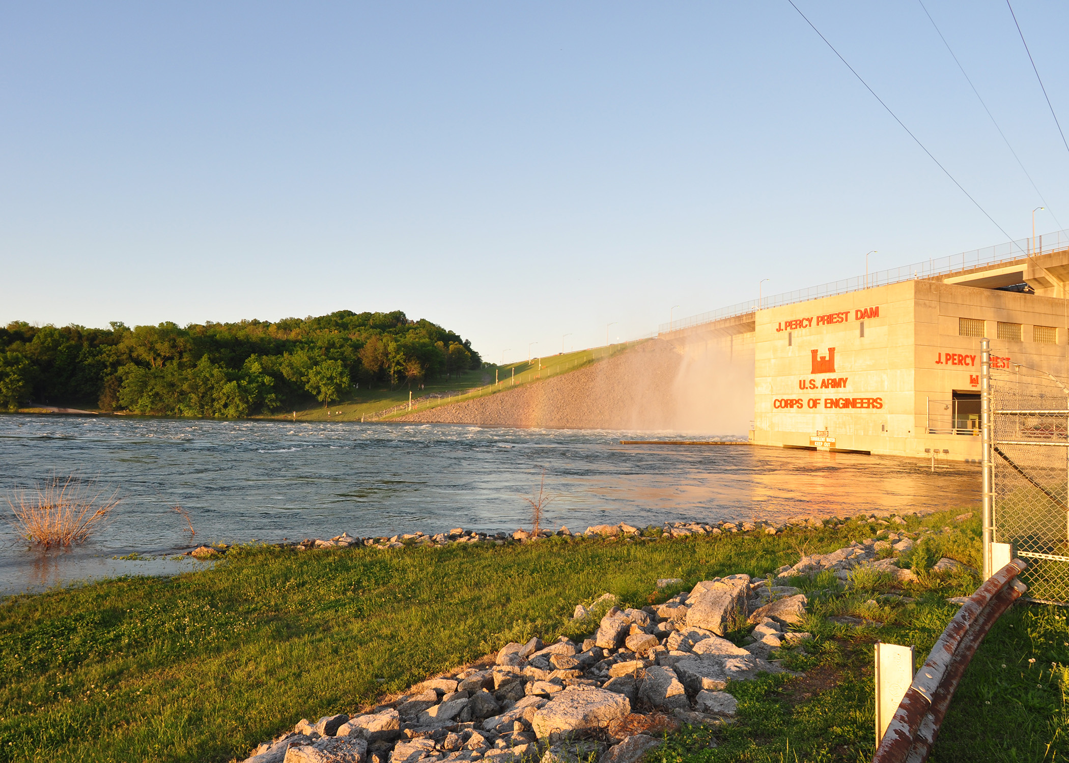 J. Percy Priest Dam in early May 2010. (USACE Photo by Mark Rankin)