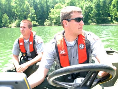 Park Rangers Wear Personal Floatation Devices