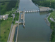 Aerial photo of Cheatham Lock and Dam project, Ashland City, Tenn. (USACE photo)