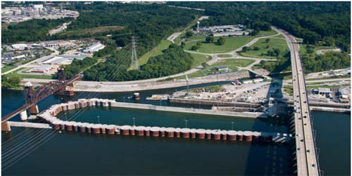 Chickamauga Lock Aerial Photo
