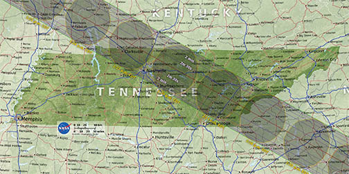 Tennessee Path of Totality