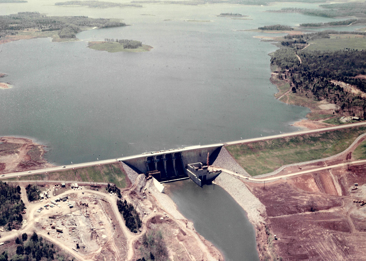 J. Percy Priest Dam under construction April 15, 1968