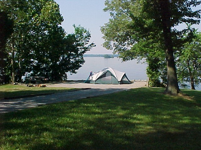Camping at Eureka Campround, Lake Barkley