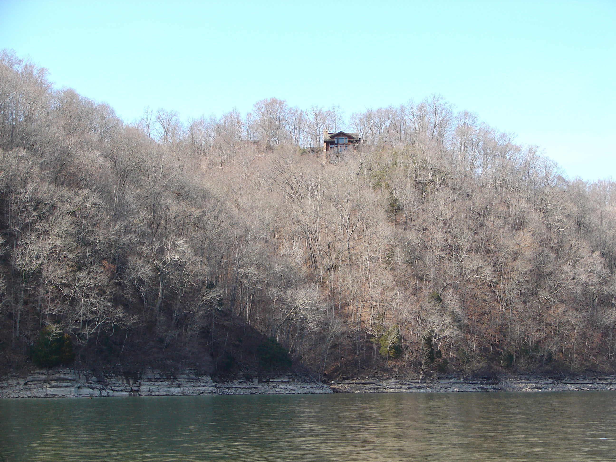 Photo of Center Hill Lake's shoreline