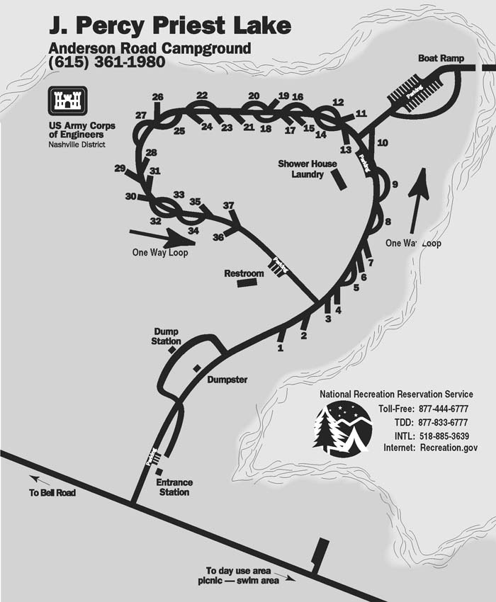 Anderson Road Campground Map