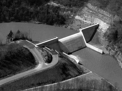 Martins Fork Dam in April 1979