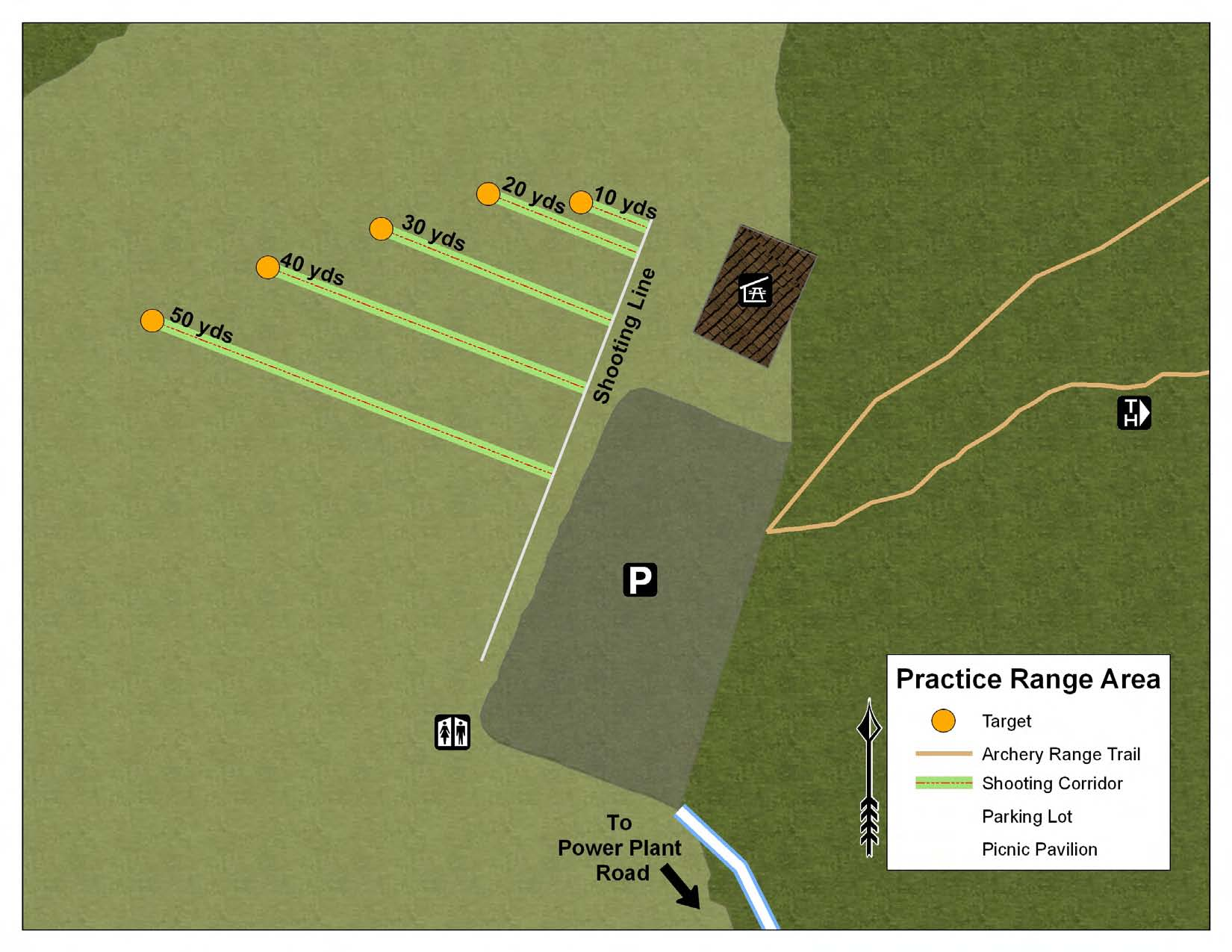 Old Hickory Lake Archery Practice Range Map