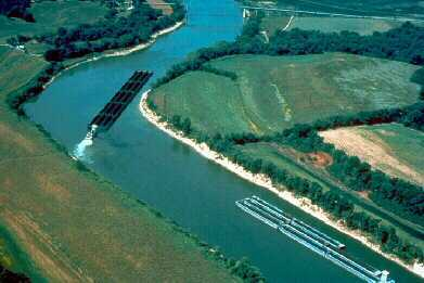 Most barges that pass through the Old Hickory Lock contain coal, chemicals, or sand and gravel.