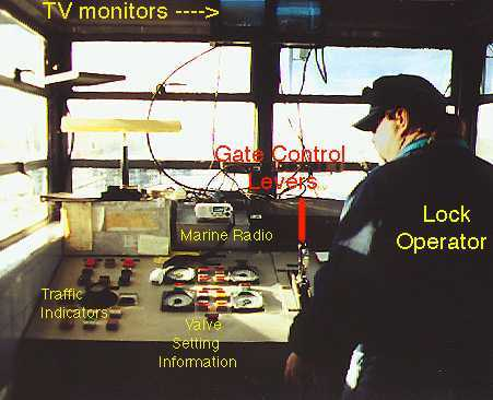 The lock operator has many electronic devices to aid him in the locking procedure.