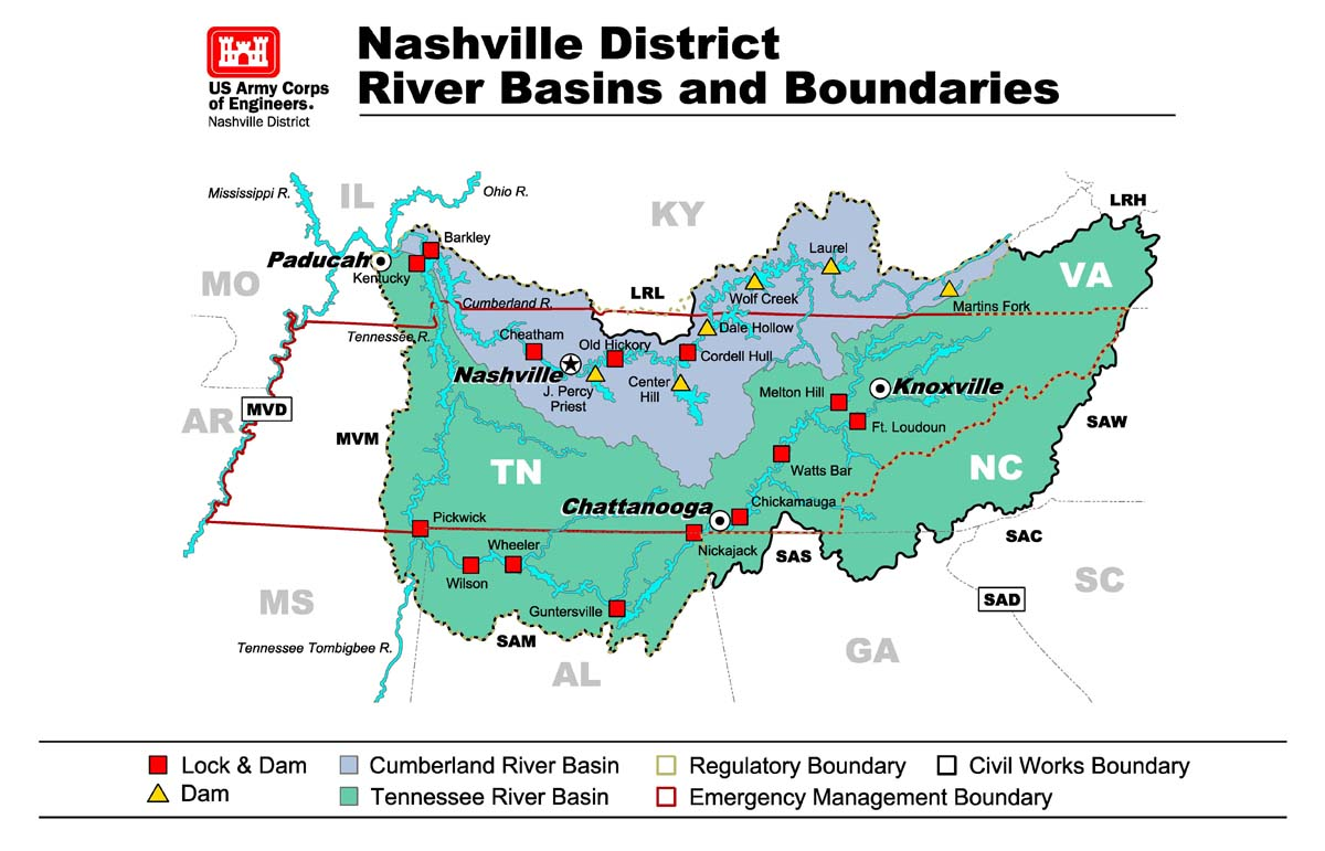 Nashville District Missions Corps Of Engineers Assistance And - Us corps of engineers maps
