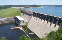 Wolf Creek Dam in Jamestown, Ky.
